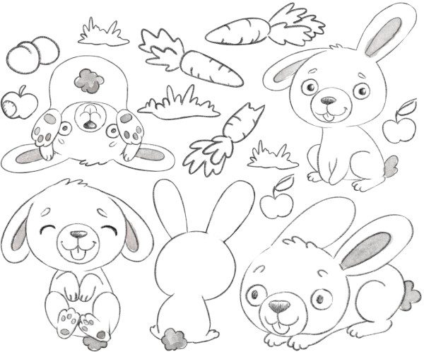 Small Bunny decal layout