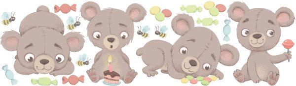 Large Teddy bear decal layout