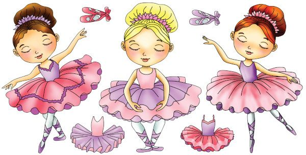 Large ballerina decal layout
