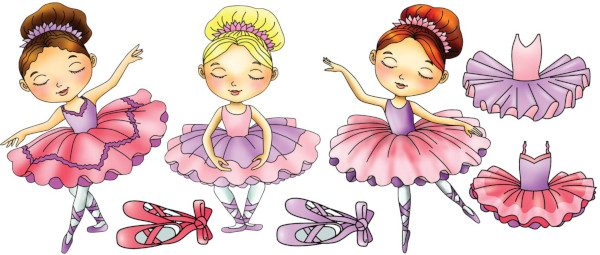 Small Ballerina decal layout