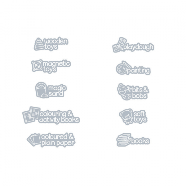 grey picture labels
