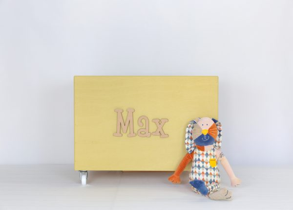 Mustard large toybox on wheels