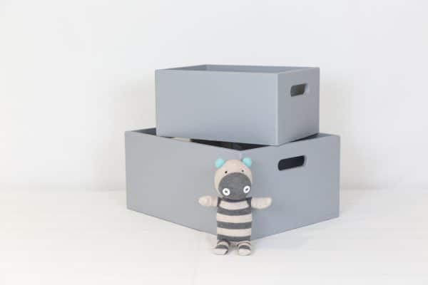 Small and medium grey toybox