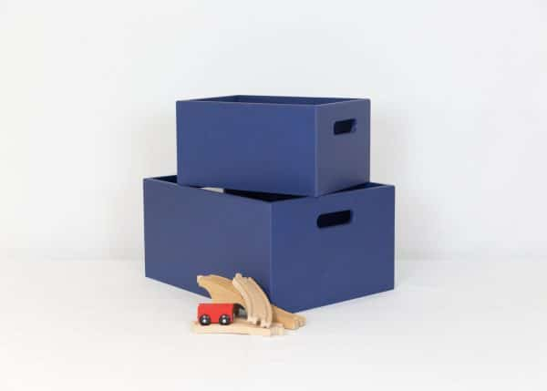 Small and medium navy toybox