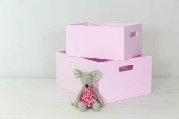 Small and medium pink toybox