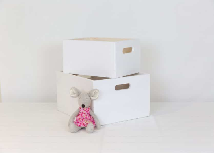 Small and medium white toybox