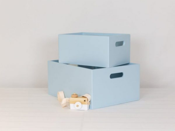 Small and medium blue toybox