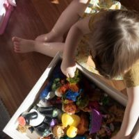 medium wooden toy box