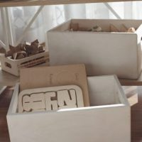 small and medium wooden toy boxes 2