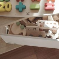 small wooden toy box