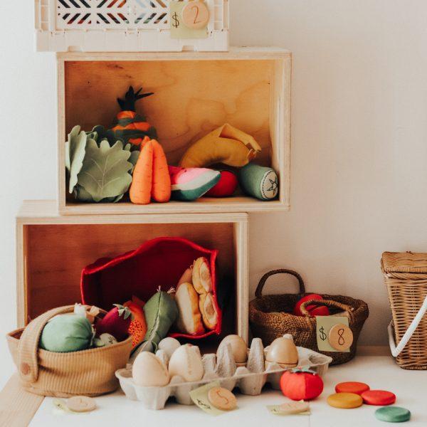 medium natural wooden box